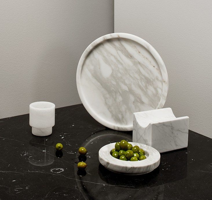 Slab happy. Marble barware and similarly cool items in the same vein.
