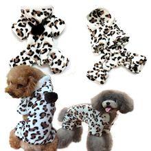 Inverno quente brown leopard grandes camisola do cão vestir roupas cachorro harness roupas cães roupas produtos parágrafo casaco filhote de cachorro pet shop(China (Mainland))