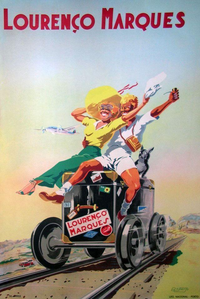 Cartaz turístico de Lourenço Marques, penso que dos anos 60.