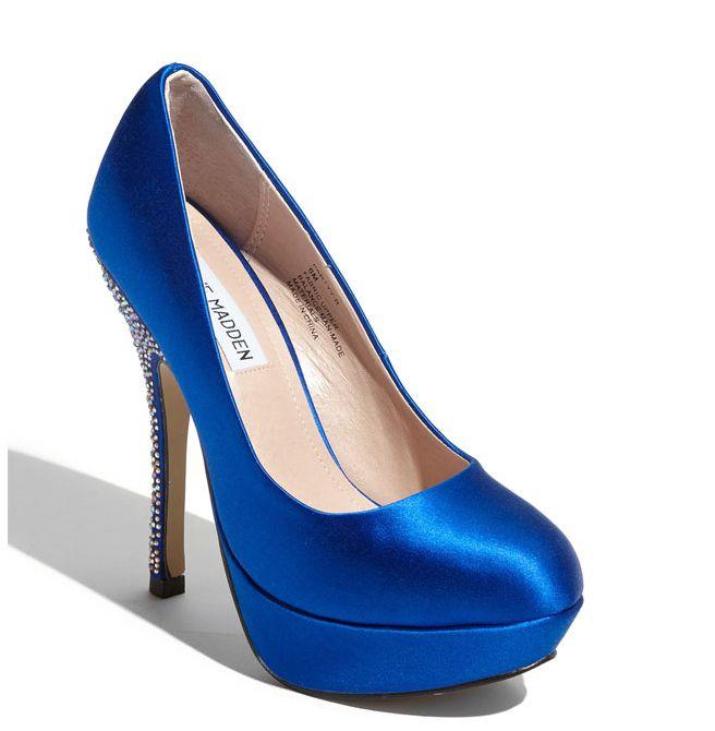 blue bridal shoes blue steve madden wedding shoes via nordstrom