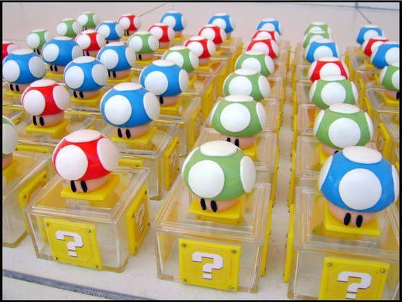 Cogumelos box - Super Mario