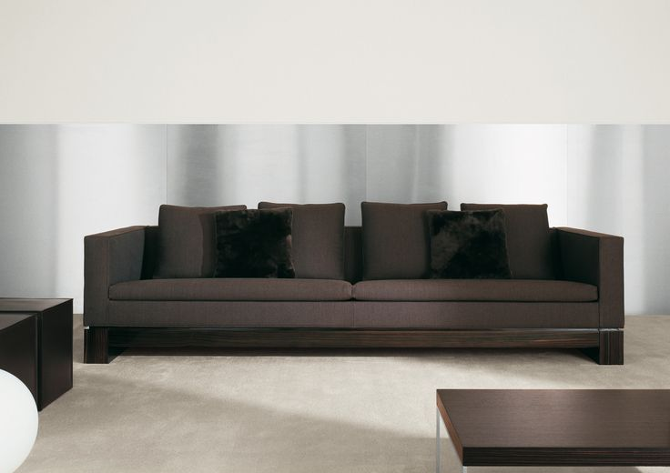 Minotti | Klimt, a base finished in glossy polyester ebony, evoking the  decoration and drawing world | more inspiring images at  www.diningandlivingroom.com