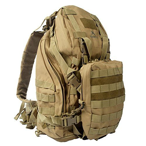 ARMY X The Crew Cab Tactical 3 Day Backpack Military Rucksack Pack Bag 31 L to 82 L Hiking Camping Trekking (ACU)
