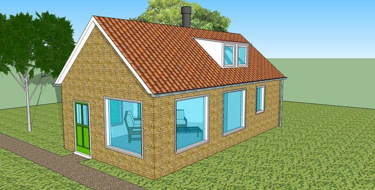 sketchup huis zijkant