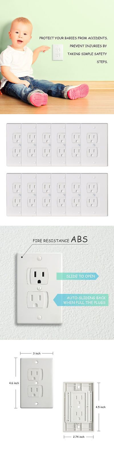 Baby Proofing 184339: 12X Universal Electrical Outlet Covers Baby Safety Self-Closing Wall Socket Plug -> BUY IT NOW ONLY: $35.79 on eBay!