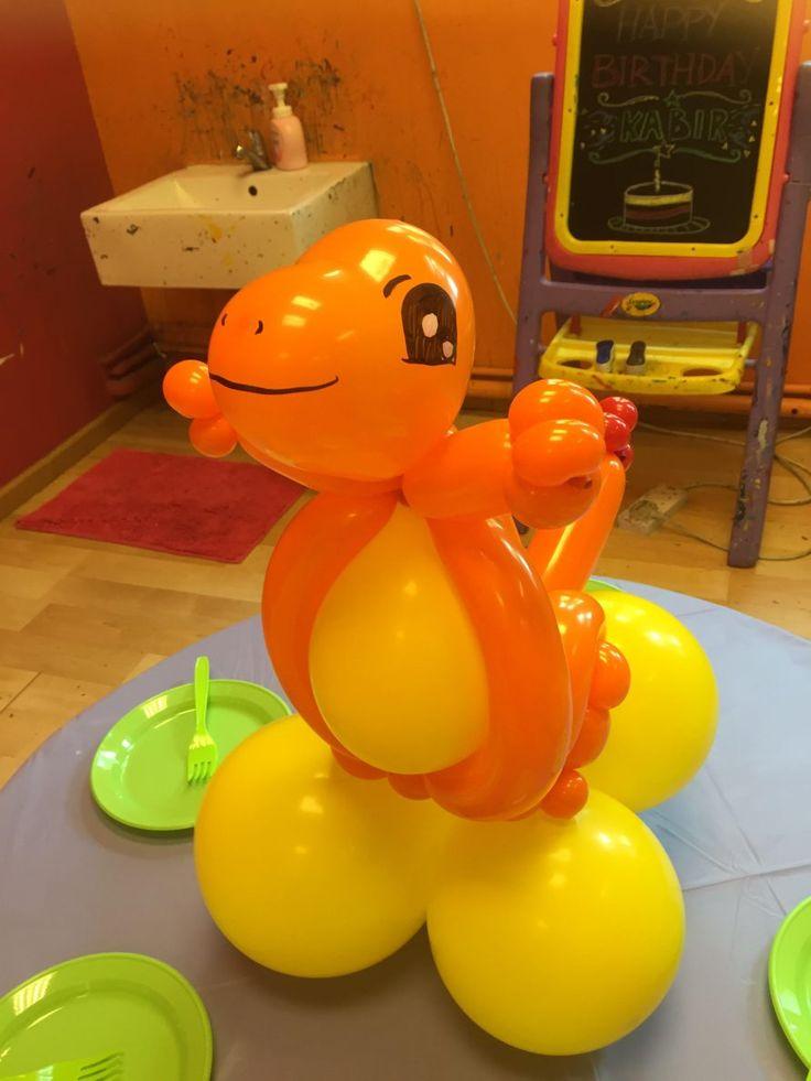 Pokemon Balloon Charmander  http://www.theballoonthing.com/balloon-sculpting-services/balloon-sculptures-gallery/