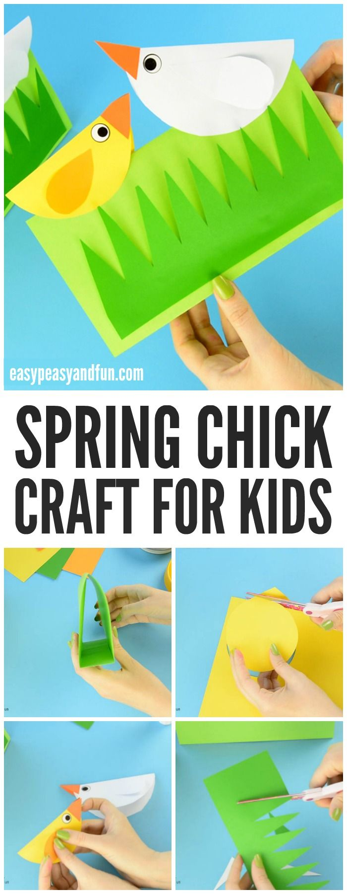 Spring Chick Craft! An adorable 3D craft for kids to make this spring!