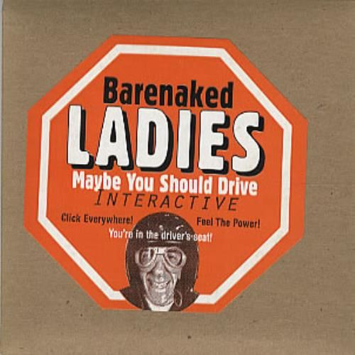"""Barenaked Ladies Maybe You Should Drive Interactive - MAC 1994 USA CD-ROM 3"""" DISC: BARENAKED LADIES Maybe You Should Drive (1994 US…"""