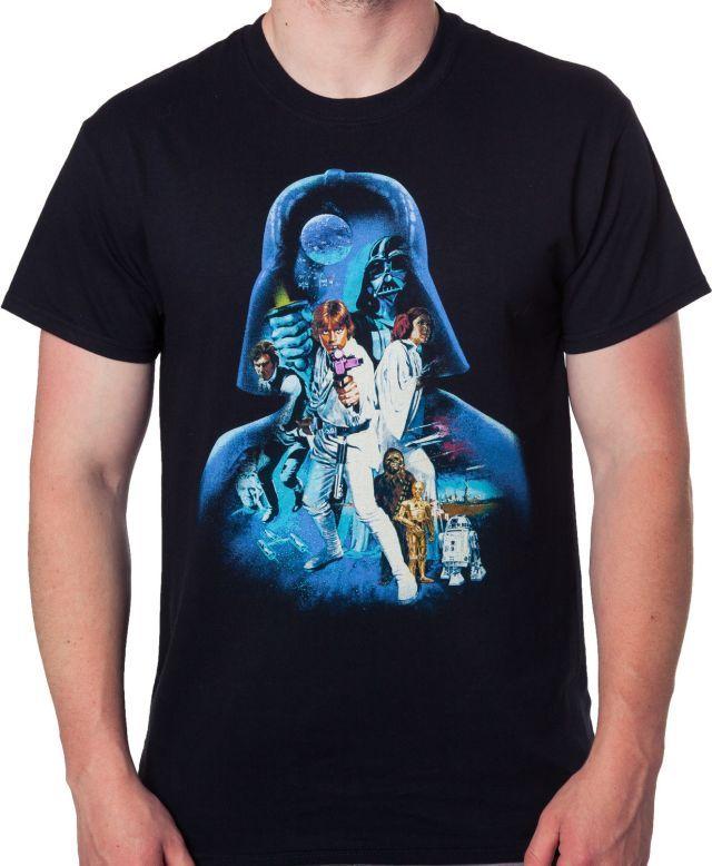 Darth Vader and Cast Star Wars T-Shirt - Movie T-Shirt