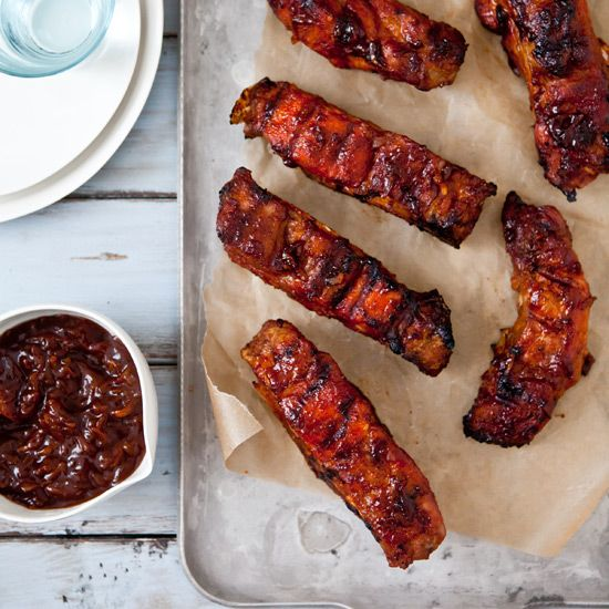 Country-Style Ribs with Apple-Bourbon Barbecue Sauce
