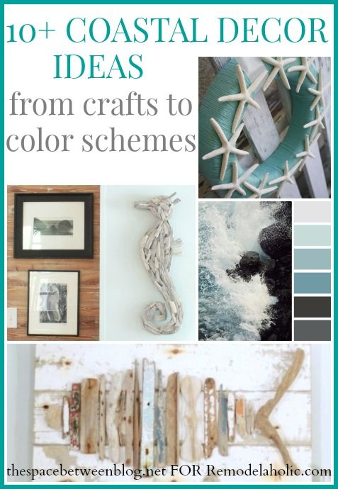 10+ coastal decor ideas to infuse the beautiful beachy look into your home, from crafts to color schemes, check out these great ideas from thespacebetweenblog.net shared on Remodelaholic.com #coastaldecor #driftwood