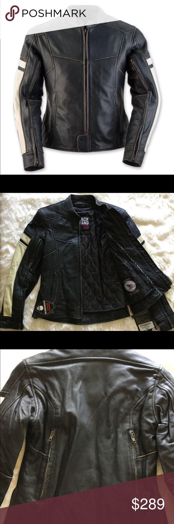 Black brand eternity leather motorcycle jacket Black Brand