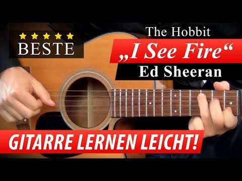 ★ I SEE FIRE ► THE HOBBIT ► FILMMUSIK Gitarre Lernen ► Ed Sheeran Soundtrack - YouTube