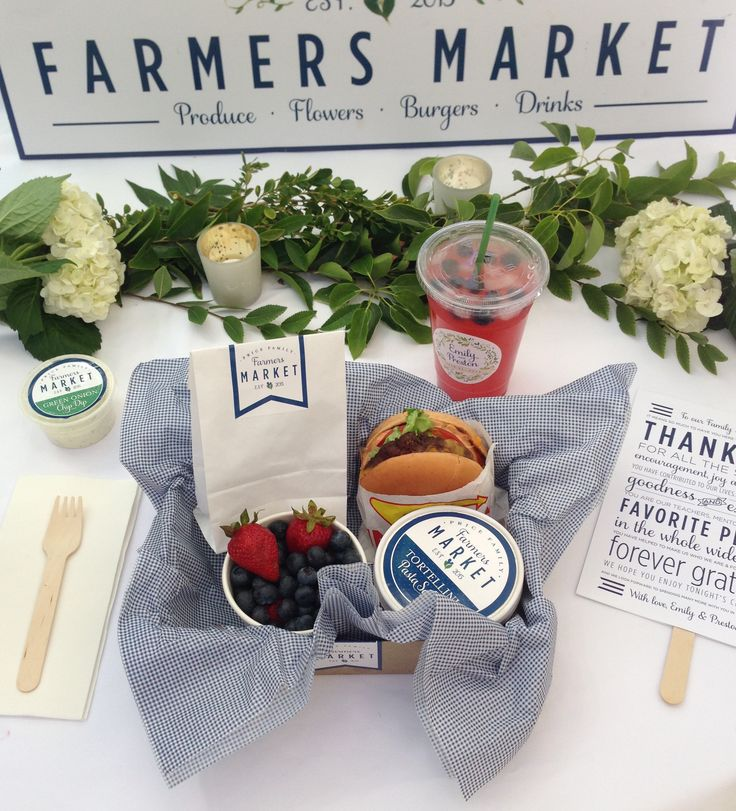 Farmers Market Wedding Branding