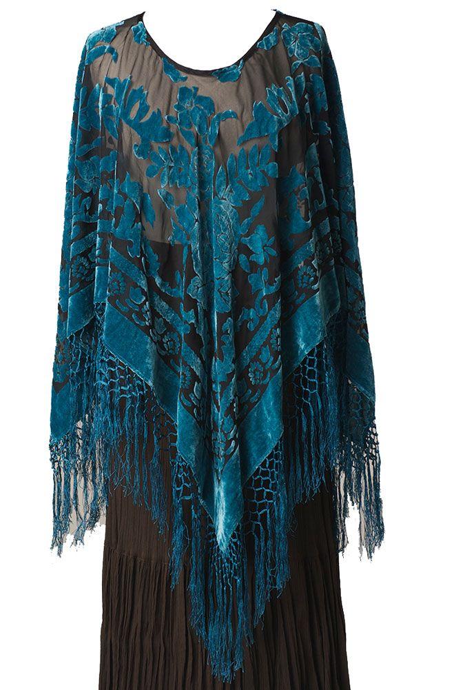 Romantic Velvet Pancho Top: Western Wear   Women Western Clothing   Western Apparel Clothing