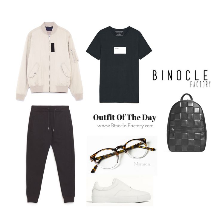 OOTD Look Of The Day. We chose Zara Man for The Outfit and our Normans for The Glasses. Hipster Sport's Style.