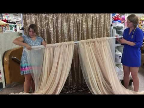 how to make balloon curtains youtube