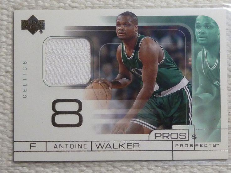 2001-02 UD Pros & Prospects ANTOINE WALKER #AW Jersey Card JSY Game Worn Celtics #BostonCeltics