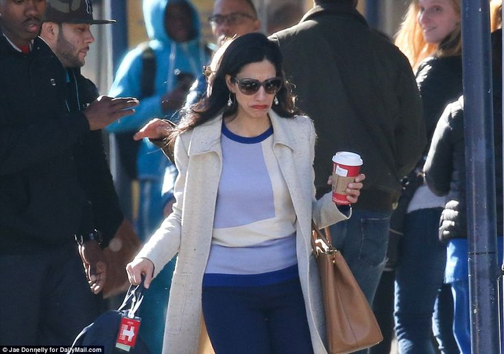 11/11/16 Hillary Clinton's closest aide Huma Abedin wept openly in the street on Friday as she returned to the place where the Democratic candidate's campaign was fought - and lost.   Abedin looked like she had the weight of the world on her shoulders as she visited the campaign headquarters of the failed presidential candidate – after her own stumbles and her husband's sexting habits helped contribute to Clinton's historic defeat.