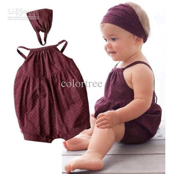 Cheap Baby Clothes - Cute Baby Girl S One Piece Romper Rompers Pants Onesies Scarf Sleeveless Newborn Female Baby Clothes Online with $7.42/Piece | DHgate