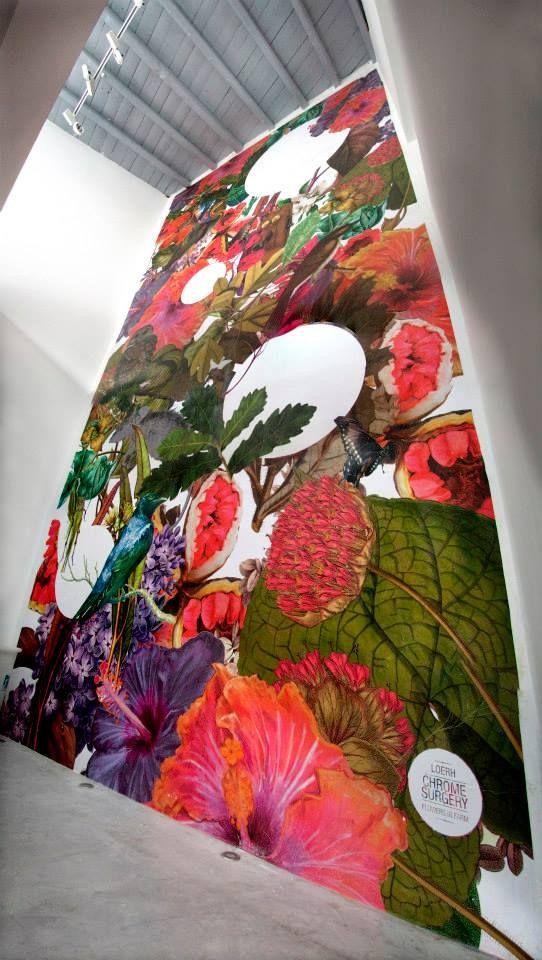 Work by #ChromeSurgery  for #FARM CULTURAL PARK  #Digital & #Print #ArtWork  Fullwall H 7,50m x L 3,50m    #Illustration & #Posterart    #streetart #farmculturalpark #lovefarm #happy&color #fullwall