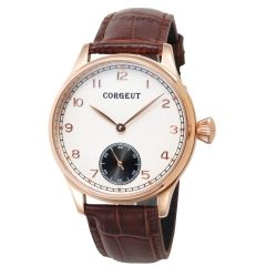 Corgeut 44mm Case White Dial Gold case Hand Winding 6498 Men,Hand Winding