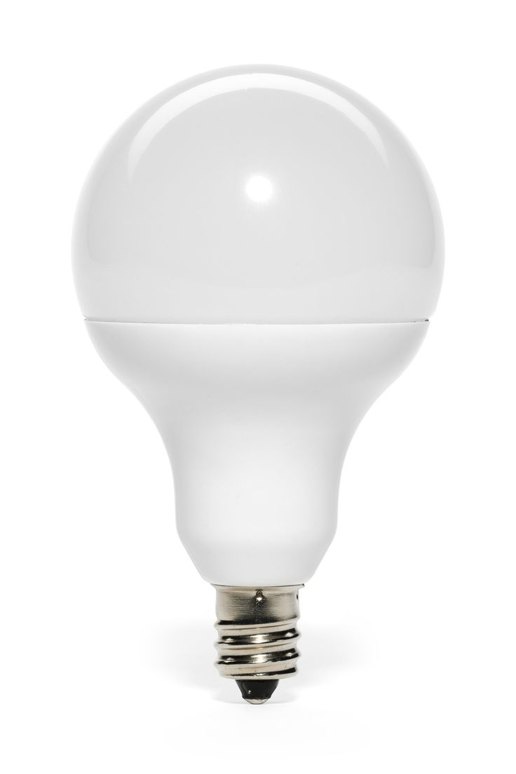 G7 Cutthroat LED Globe Style 35W Replacement G16 Vanity Light Bulb, Non-Dimmable Bright White ...