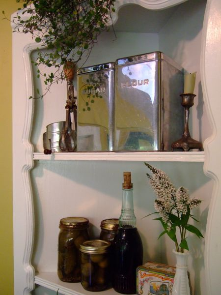 How-To: Junk Store Corner Cabinet Renewal...good tutorial for revamping and repainting furniture!