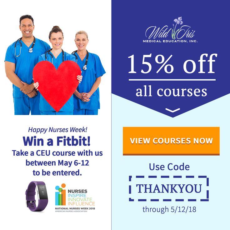 Super discounts on nursing CEU courses during NursesWeek