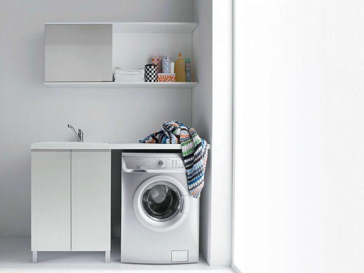 17 meilleures id es propos de armoire de linge sur for Meuble buanderie avec bac a laver