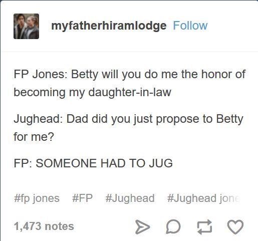 I love this! - FP Jones - Jughead & Betty - Bughead - Riverdale