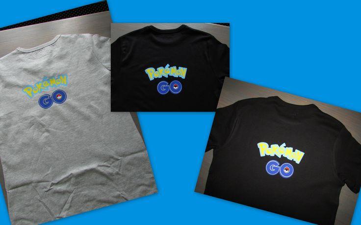 Pokemon Go shirts gemaakt voor de kids. Natuurlijk van flex folie gesneden met mijn silhouette.