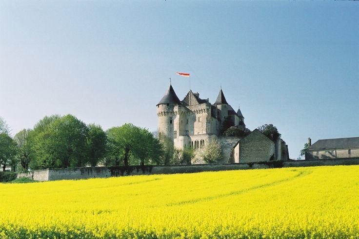 A castle in a yellow ocean!