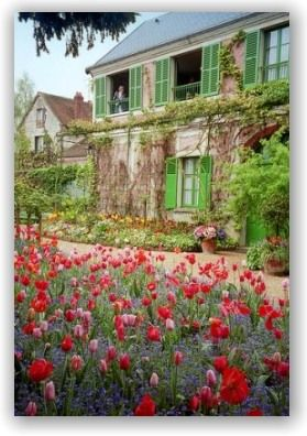 Monet's HouseMonets Garden, Monet House, French Country Homes, Claude Monet, France, Cottages, Places, French Country Gardens, Monet Gardens