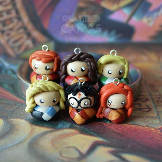 Harry Potter Charms by Splattered Canvas $10.00 each on Etsy at http://www.etsy.com/listing/80311295/25-off-harry-potter-charms?ref=related-3