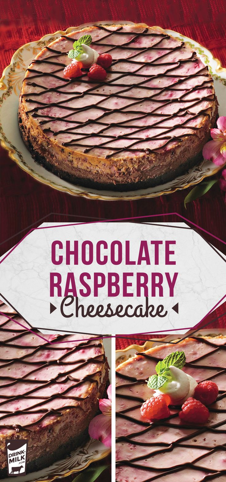 Chocolate Raspberry Cheesecake, an Ohio State Fair award-winning recipe!