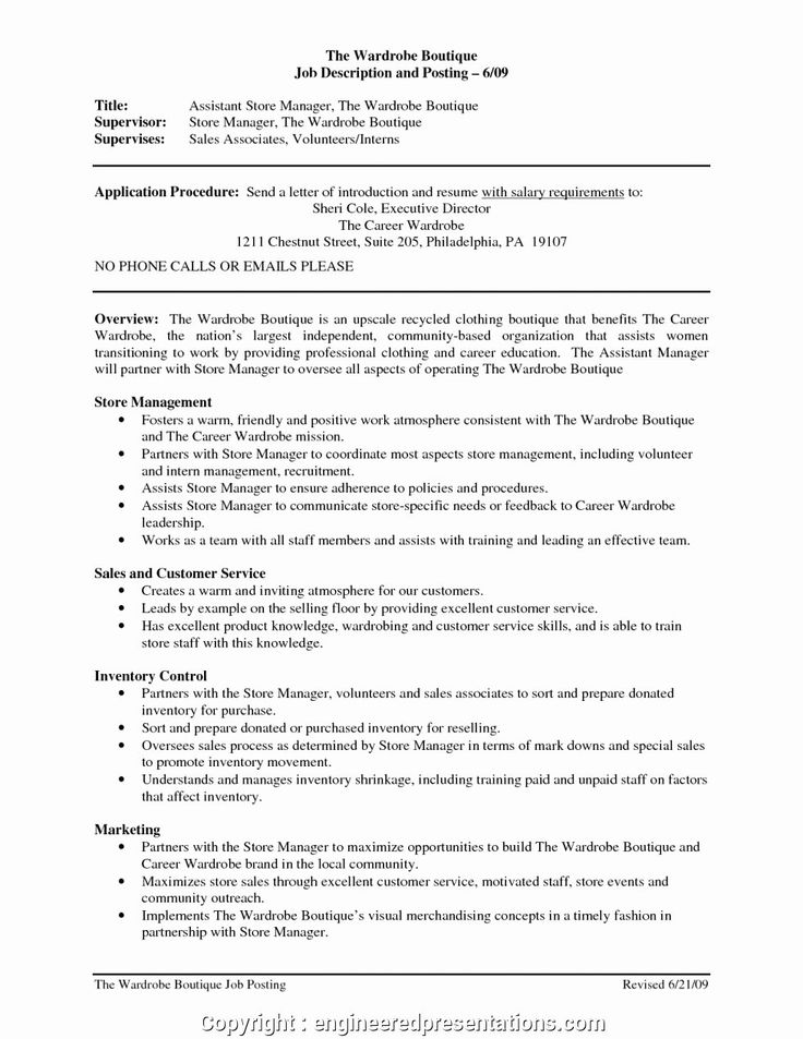 Jewelry sales associate resume luxury new store manager