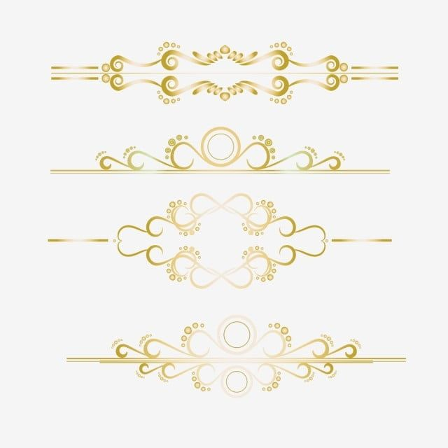 Gold Ornament Border 2 Gold Clipart Png Border Png And Vector With Transparent Background For Free Download Gold Clipart Gold Ornaments Wedding Borders