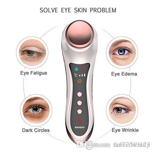 Tamax Eye Massager for Dark Circles and Puffiness Skin Tightening Hot Cold hammer Anti-ageing