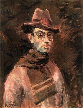 Фальк Роберт Рафаилович (1885-1958). Автопортрет с шарфом. 1934 г. Холст, масло. 72,5х59,8 см