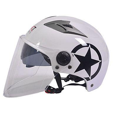 GXT motocicleta M11 medio casco de doble lente de casco protector solar Harley unisex verano adecuado para 55-61cm con lente transparente 5603932 2017 – €16.91