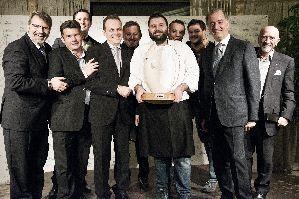Chef Michele Cella e la giuria di Chef Stellati del festival Triveneto del Baccalà Trofeo Tagliapietra