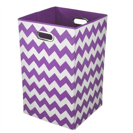 @rosenberryrooms is offering $20 OFF your purchase! Share the news and save!  Purple Chevron Canvas Laundry Bin #rosenberryrooms