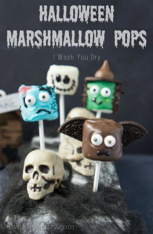 The last few months of the year are seriously my favorite. Why? Because I get to let my creative juices flow. I love creating things. I love crafty things. AHHH!! It's so exciting!! So last year I created some adorable Halloween Marshmallow Pops that included a Mummy, Pumpkin, Frankenstein, and a Vampire. I can't tell you how long I have been waiting to create more Halloween Marshmallow Pops for you. I sketched out several ideas a couple months back, I actually had several jotted down...