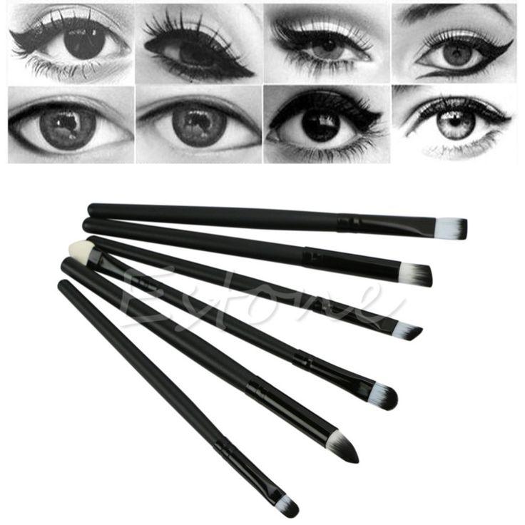6 Unids Chic Pinceles de Maquillaje Kit de Herramientas de Cosméticos Set Sombra de Ojos Eyeliner Nariz Smudge