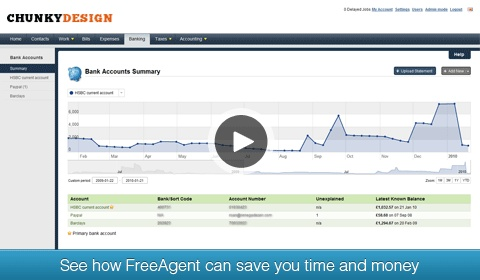 FreeAgent Small business accounting package - used for over two years now.