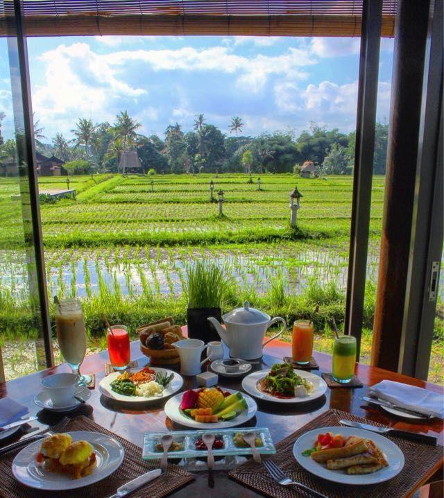 Breakfast at rice fields in Bali #wonderfulindonesia #ricefields #tripofwonders #indonesia #traveltomtom #photo
