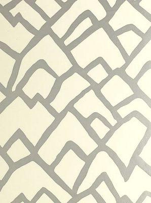 Schumacher Zimba - Silver - Wallpaper - DecoratorsBest