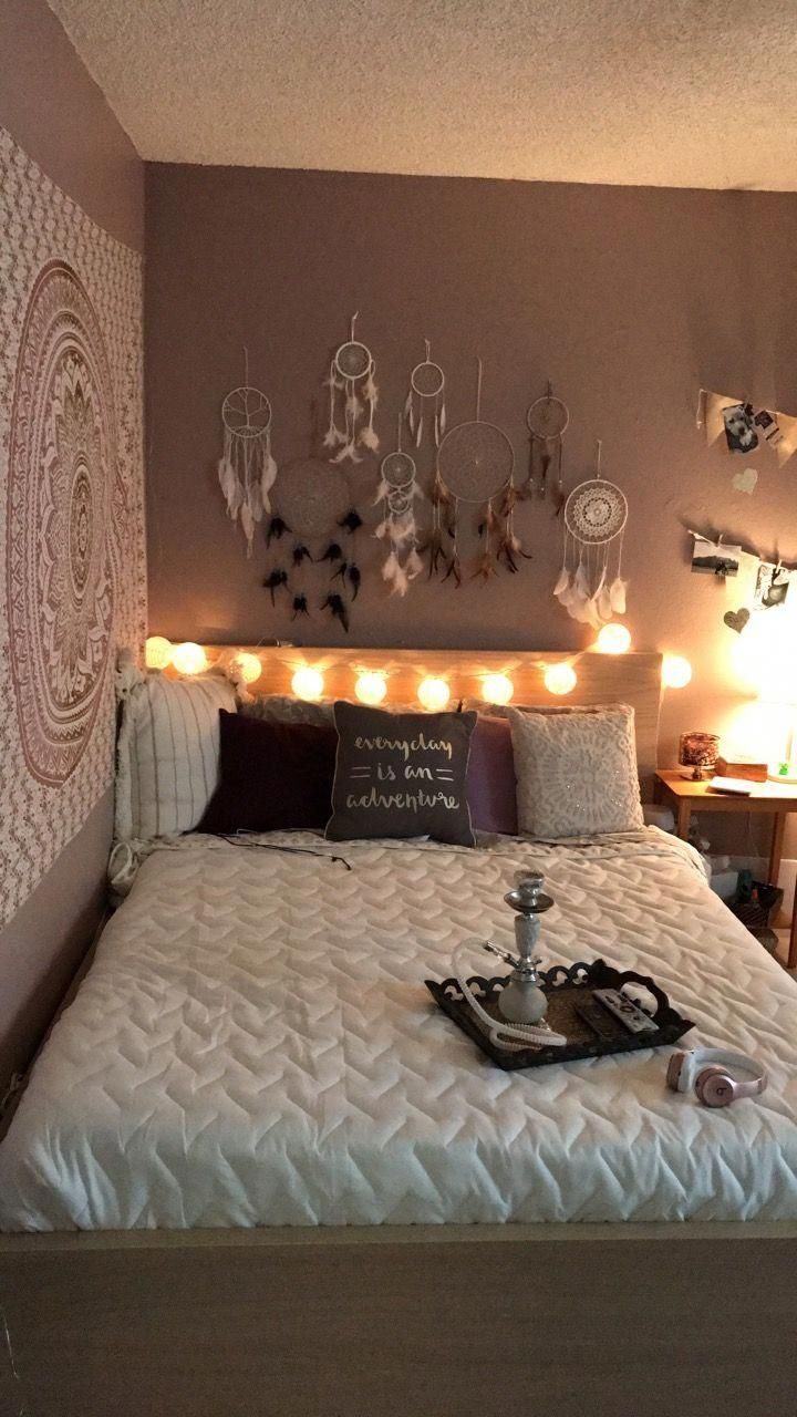 Bedroom Purple Grey Dream Catcher Boho Teen College
