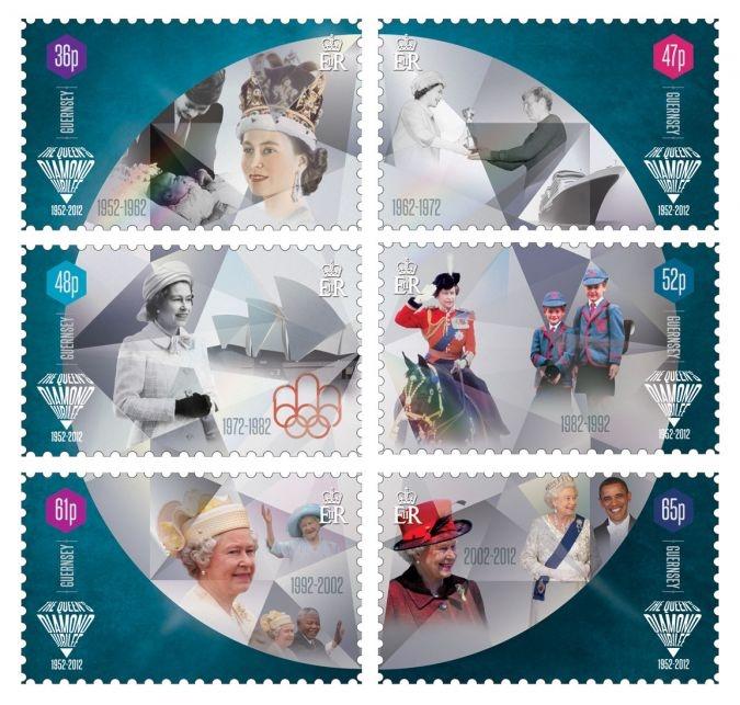 Diamond Jubilee stamps